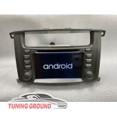 Штатная автомагнитола для Land Cruiser 100 03-07 год с дисководом Android 8