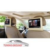 Монитор в подголовник автомобиля универсальный на DVD бежевый