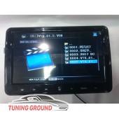 Монитор в подголовник автомобиля черный на DVD тонкий