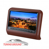 Монитор в подголовник автомобиля универсальный на DVD коричневый