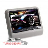 Монитор в подголовник автомобиля универсальный на DVD серый