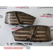 Задние фонари (стопы) в стиле BMW дымчатые на Camry 2012-2014 год