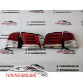Задние фонари реcтайлинг красные для Lexus LX 570 2012-2015 год
