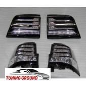 Задние фонари реcтайлинг серые для  Lexus LX 570 2012-2015 год