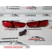 Стопы тюнинг красные Lancer X/EVO X 2007-2017 год