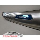 Накладка на задний бампер X-Trail T 32 2014+ Вариант 2
