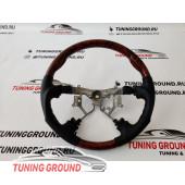 Руль коричневое дерево F-Sport на Land Cruiser Prado 120