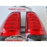 Задние фонари светодиодные (красно-дымчатые) на Prado 120