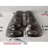 Задние фонари светодиодные дымчатые Prado 120 2002-2008 год
