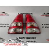 Задние фонари светодиодные (красно-белые) на Prado 120