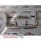 Защита заднего бампера на Land Cruiser 200 2008-2015 год