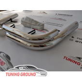 Защита заднего бампера на Land Cruiser 100/ Lexus LX 470