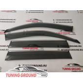 Ветровики на Land Cruiser Prado 150 2009-2019 год Вариант 2
