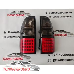 Задние фонари (стопы) диодные дымчатые Prado 90