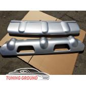 Накладки на передний и задний бампер X-Trail-T31 2011-2013